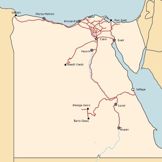 Egyptin rautatiet