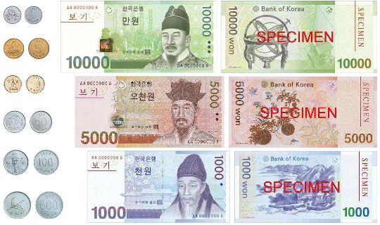 Valuta in Zuid-Korea