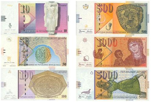 Valuta in Macedonië