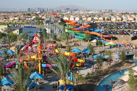 الحدائق المائية في لاس فيغاس