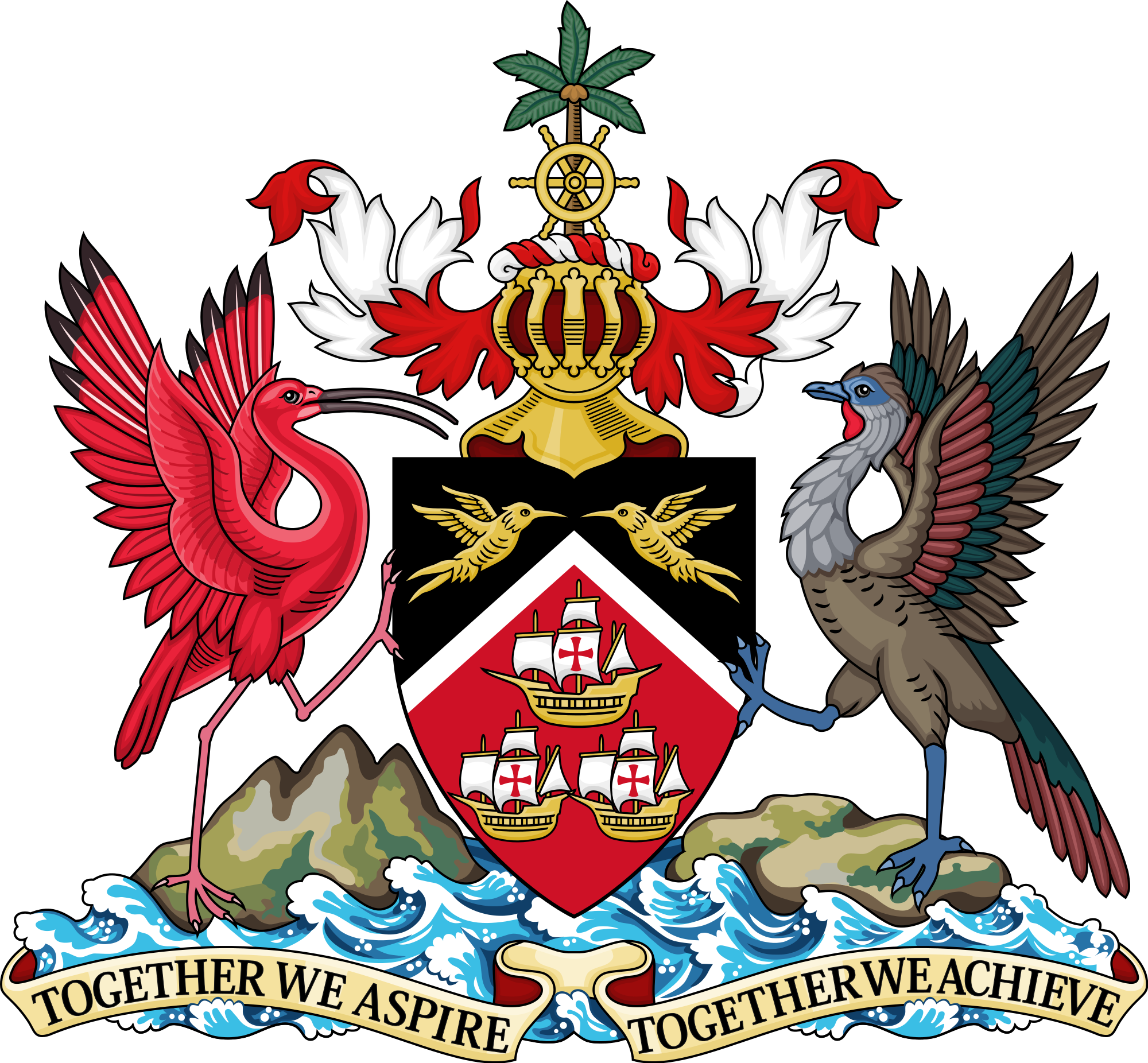 Wapenschild van Trinidad en Tobago