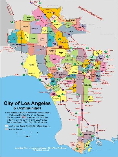 مناطق لوس أنجلوس