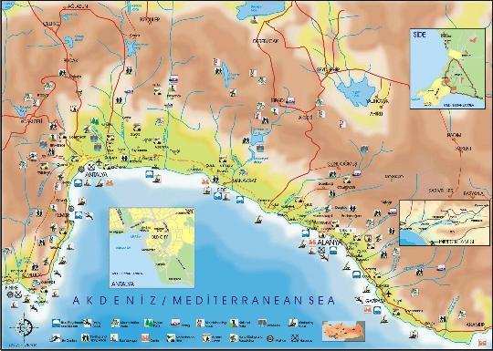 Antalyan alueet