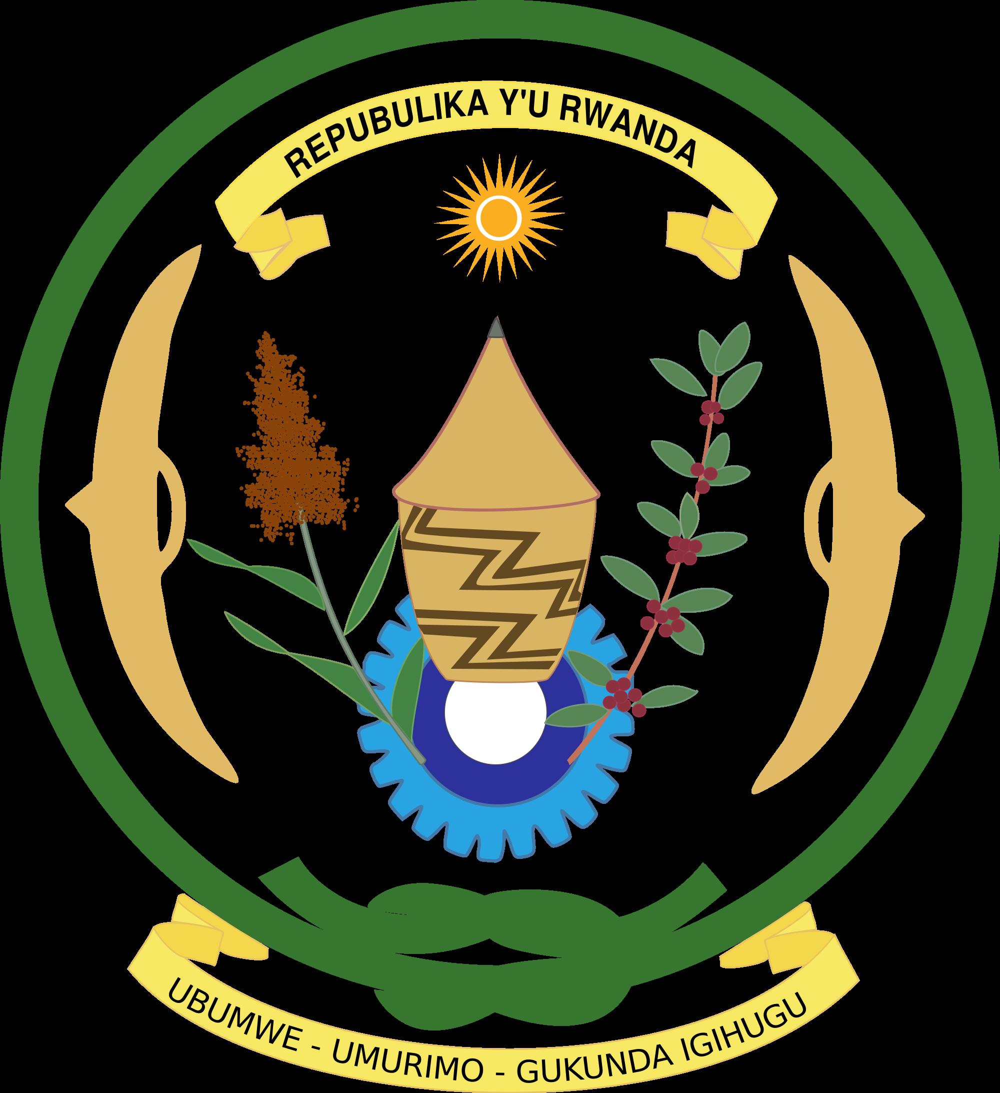 Wapenschild van rwanda