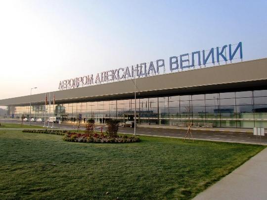 Makedonian lentokentät