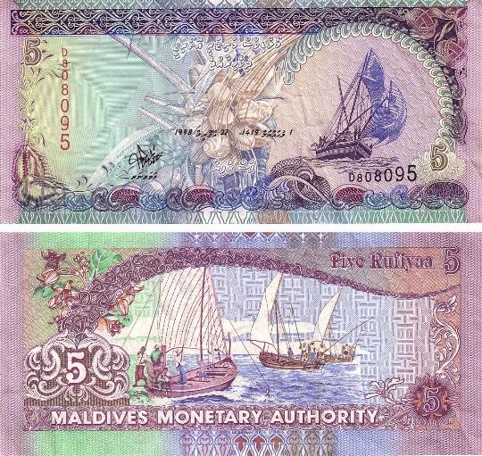 Valuta op de Malediven