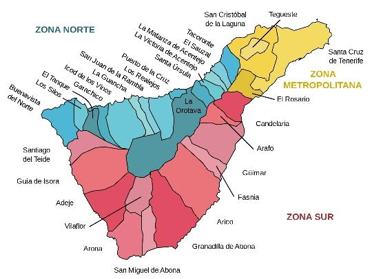 Tenerife gebieden