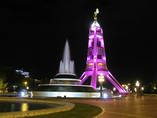 Ashgabat - de hoofdstad van Turkmenistan