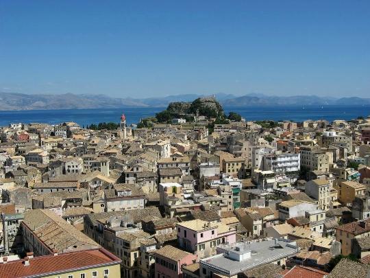 Korfun alueet