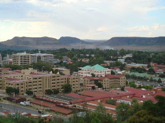 Maseru - de hoofdstad van Lesotho