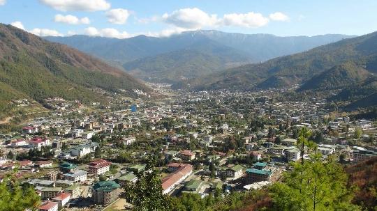 Thimphu - de hoofdstad van Bhutan