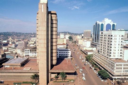 Kampala - de hoofdstad van Oeganda