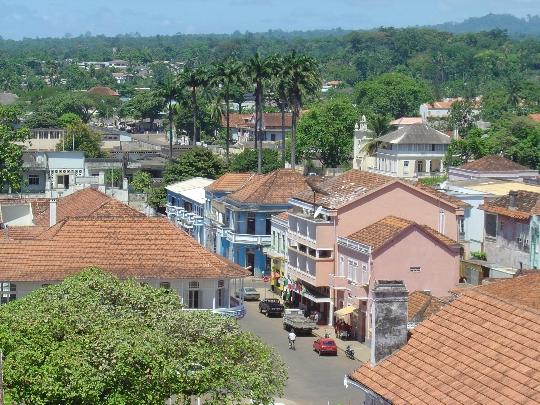 De hoofdstad van Sao Tomé en Principe