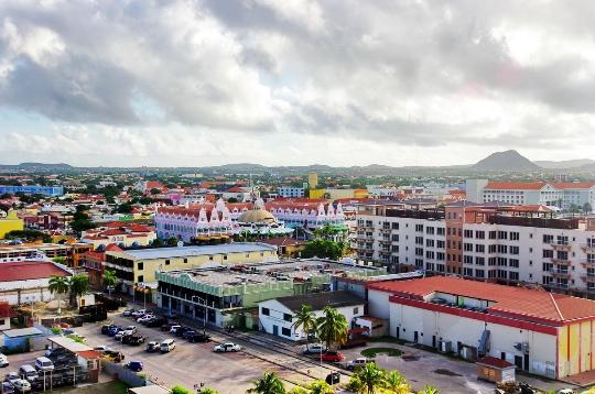 Oranjestad - de hoofdstad van Aruba