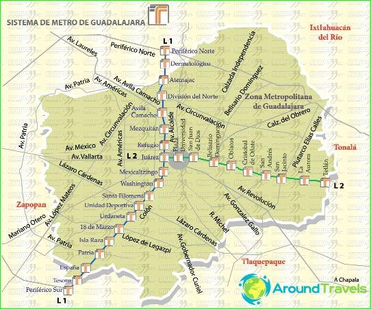 Metro Guadalajara: carte, photo, description
