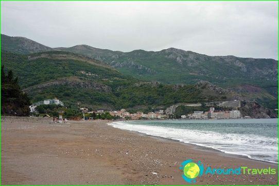 Stranden in Becici