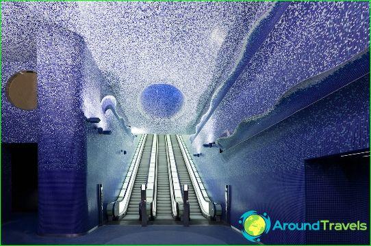 Napoli Metro: kaavio, kuva, kuvaus