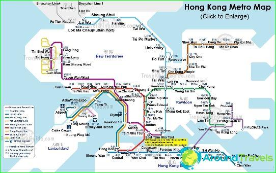 خريطة مترو أنفاق هونج كونج