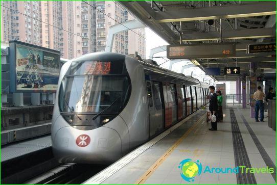 مترو هونج كونج: الخريطة ، الصورة ، الوصف
