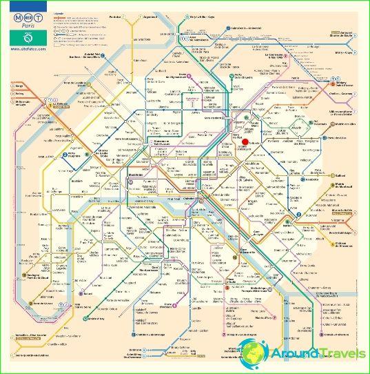 Карта на метрото в Париж
