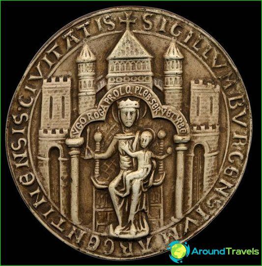 Middeleeuwse grote zegel van Straatsburg