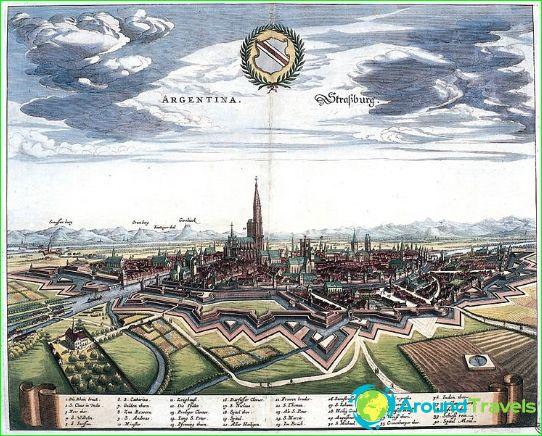 Gezicht op Straatsburg in 1644
