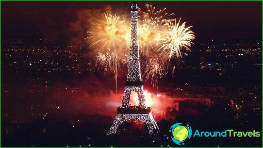 Nieuwjaarsvuurwerk in Parijs