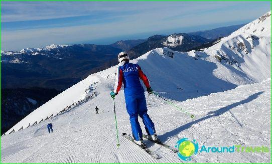 Skigebieden in Rusland
