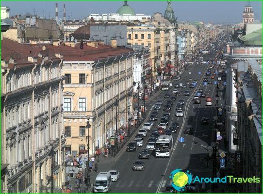 Kaupat ja ostoskeskukset Pietarissa
