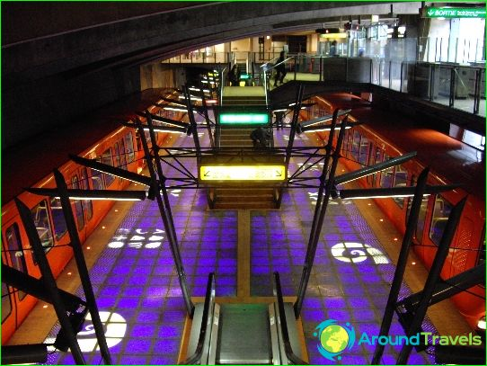 Metro Lyon: schema, foto, beschrijving