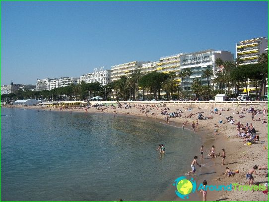 Stranden in Cannes