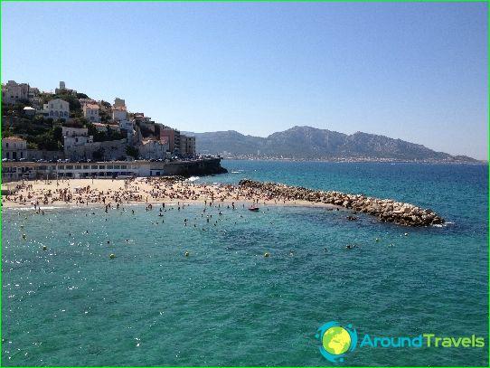 Stranden van Marseille