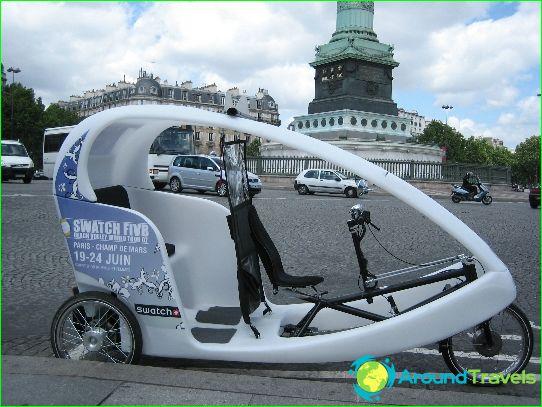 Taxi in Parijs
