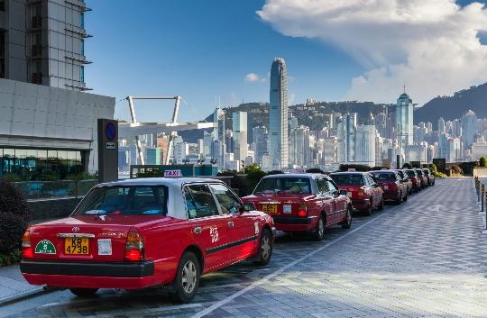 Taxi's in Hong Kong