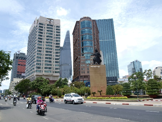 Straten van Ho Chi Minh-stad