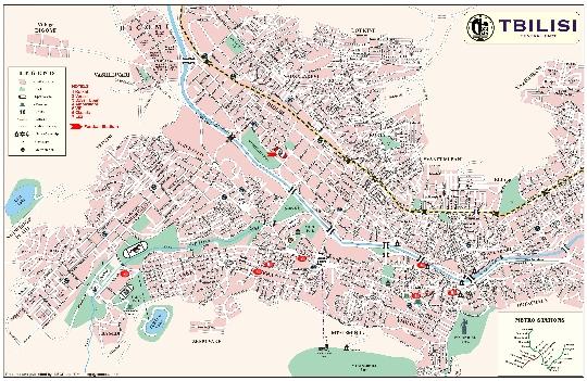 Tbilisin kaupunginosat