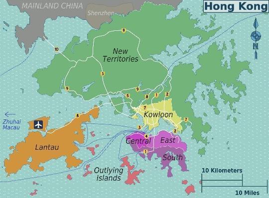 Райони в Хонг Конг
