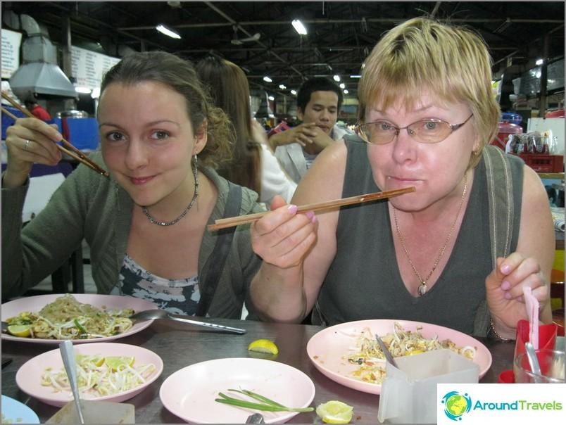 Tyypillinen thaimaalainen kahvila