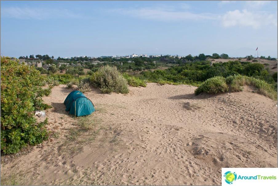 Hyvä telttapaikka