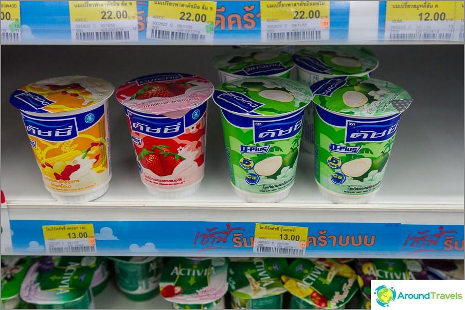 Thai-jogurtit purkeissa