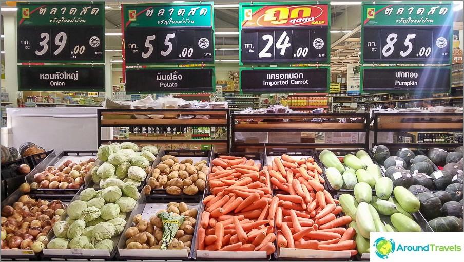 Perunat, porkkanat, sipulit, kesäkurpitsa