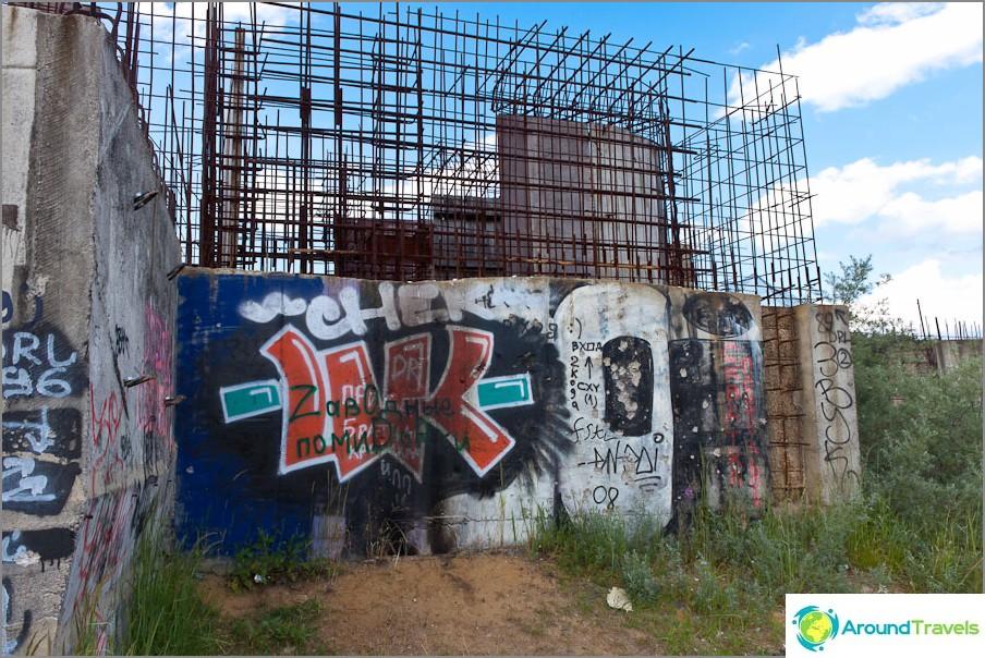 Graffiti seinillä