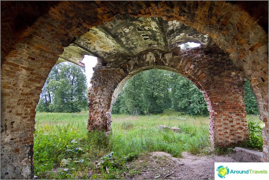Италиански арки на гърба на къщата