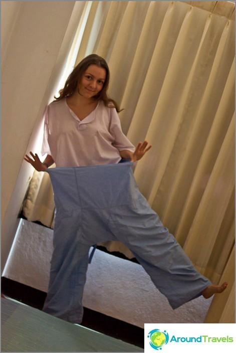 Vaatteet ovat erittäin tilavia, niitä on paljon