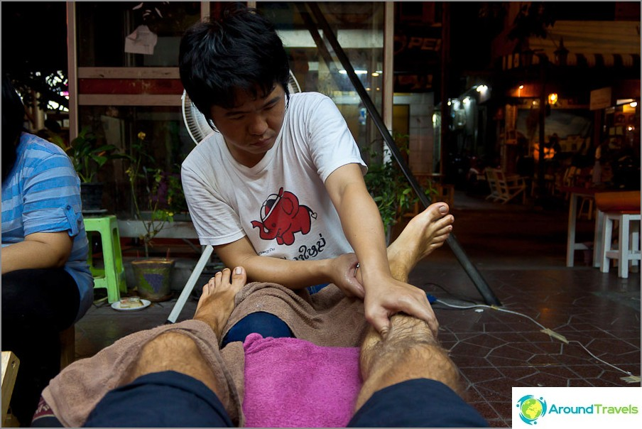 Thai-jalkahieronta Bangkokissa