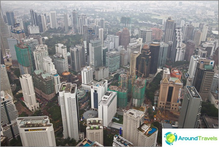 Kuala Lumpur ylhäältä
