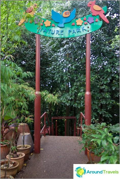 Sisäänkäynti Bukit Nanas -puistoon