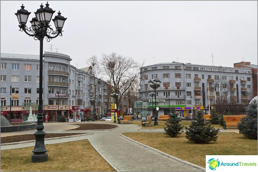 Един от площадите на Харков