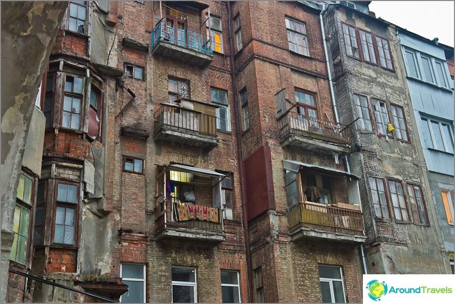 Центърът на града и хората живеят тук