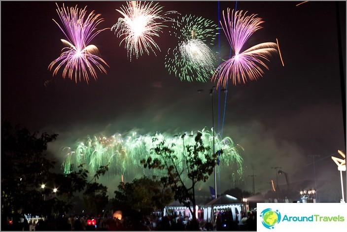 Uuden vuoden Thaimaan ilotulitusfestivaali